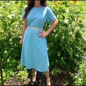 {True Vintage} handmade robin egg blue 60s dress